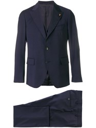Gabriele Pasini Three Piece Suit Blue