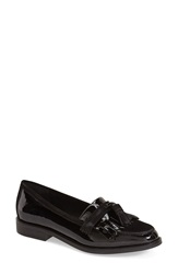 Dune 'Goosie' Tassel Loafer Women Black Patent Leather