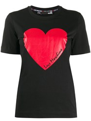 Love Moschino Logo Heart Print T Shirt 60