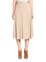 Ralph Lauren Suede Donnelly Skirt Mineral