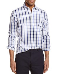 Bloomingdale's The Men's Store At Check Regular Fit Button Down Shirt Gray Pearl