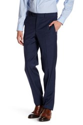 Ted Baker Extra Trim Fit Flat Front Wool Pant Blue