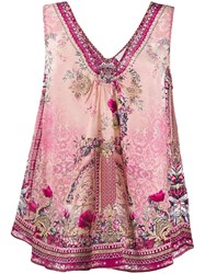 Camilla Printed Sleeveless Blouse Pink