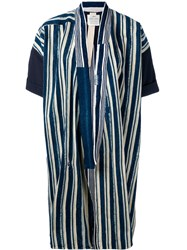 Forte Forte Long Stripe Jacket Women Cotton 0 Blue