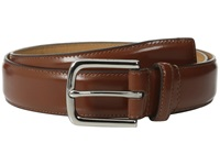 Cole Haan 32Mm Spazzolato Feather Edge Stitched Strap Cognac Men's Belts Tan