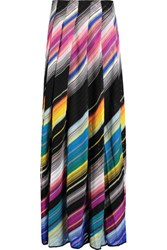 Missoni Pleated Crochet Knit Maxi Skirt Multi