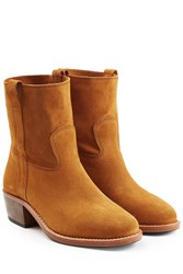 Jerome Dreyfuss Suede Ankle Boots Camel