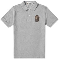 A Bathing Ape X Swarovski Large Head Polo Grey