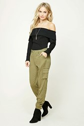 Forever 21 Contemporary Cargo Pants Olive