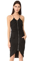 Moschino Zipper Down Dress Black
