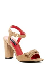 Charles Jourdan Inari Ankle Strap Sandal Brown