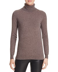 Bloomingdale's C By Cashmere Turtleneck Sweater Heather Rye