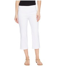 Tribal Stretch Bengaline 22 Flatten It Pull On Capris White Women's Casual Pants