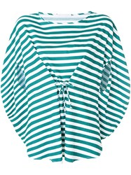 Societe Anonyme Bloody Mary Striped Top Cotton Green