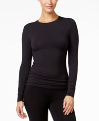 Cuddl Duds Softwear Stretch Long Sleeve Crew Shirt Black