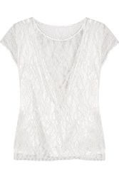 L'agence Mila Embroidered Lace Top Ivory