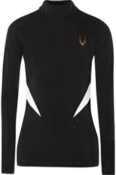 Lucas Hugh Fleece Backed Stretch Jersey Top Black