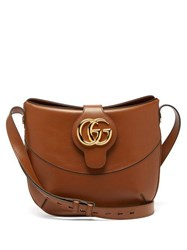 Gucci Arli Gg Leather Shoulder Bag Tan