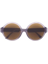 Vera Wang Oversized Round Sunglasses Grey