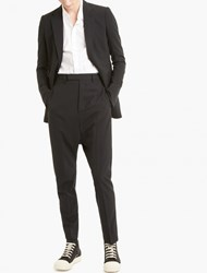 Rick Owens Black Wool One Button Blazer