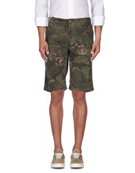 40Weft Trousers Bermuda Shorts Men Military Green