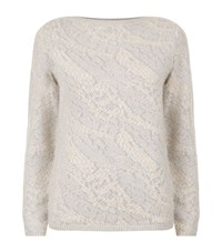 Reiss Wesley Jacquard Jumper Female Grey