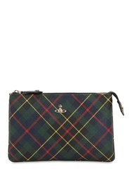 a24b9e8e8ed Vivienne Westwood Derby Tartan Coated Canvas Pouch Green