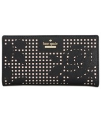 Kate Spade New York Cameron Street Perforated Stacy Wallet Black
