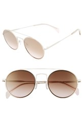 Tommy Hilfiger Women's 53Mm Round Sunglasses Matte Cream