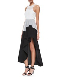 Theory Dolie Colorblock High Low Maxi Dress Women's White