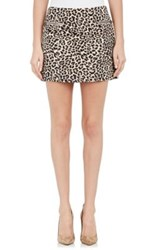Joseph Women's Animal Pattern Jacquard Miniskirt Grey Size 6 Us