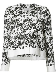 Carolina Herrera Floral Pattern Cropped Jacket White