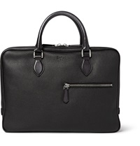 Berluti Venezia Grained Leather Briefcase Black