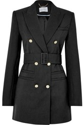 Alice Mccall That's All Crystal Embellished Double Breasted Grain De Poudre Blazer Black