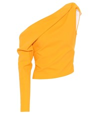 Maticevski Lucky One Shoulder Top Yellow