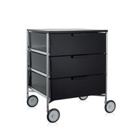 Kartell Mobil 3 Drawer Wheels Glossy Smoke