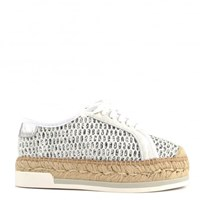 Kanna Dallas Lace Up Espadrilles White