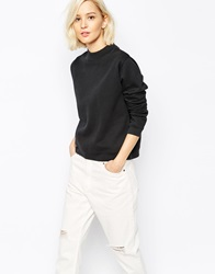 Levi's Line 8 High Neck Crop Sweatshirt Black