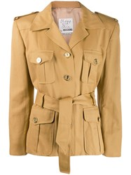 Moschino Vintage 1980'S Trench Coat Styled Jacket Neutrals