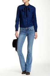 Genetic Denim Leaf Fit And Flare Jean Blue