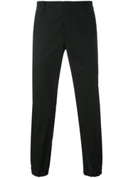 Prada Elasticated Cuffs Chinos Black