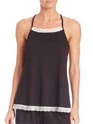 Cosabella Pima Cotton Scalloped Racerback Camisole Black White Multi