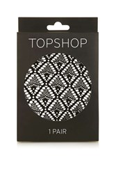 Topshop Diamond Lace Tights Black