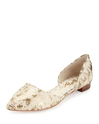 Alice Olivia Hilary Gold Stamped D'orsay Flat Nude