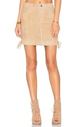 Anine Bing Lace Up Skirt Beige