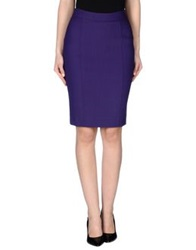 A'biddikkia Knee Length Skirts Purple