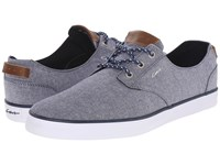 Circa Harvey Chambray Dress Blues Men's Skate Shoes Gray