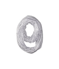 Steve Madden Hole Punched Infinity Scarf White Scarves