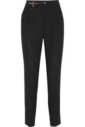 Anthony Vaccarello Wool Tapered Pants