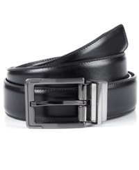 Perry Ellis Big And Tall Reversible Leather Dress Belt Blk Brn